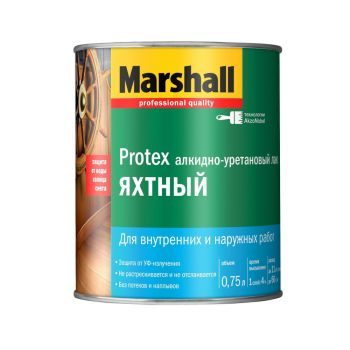 Лак Marshall Protex Яхтный п/мат 0,75л