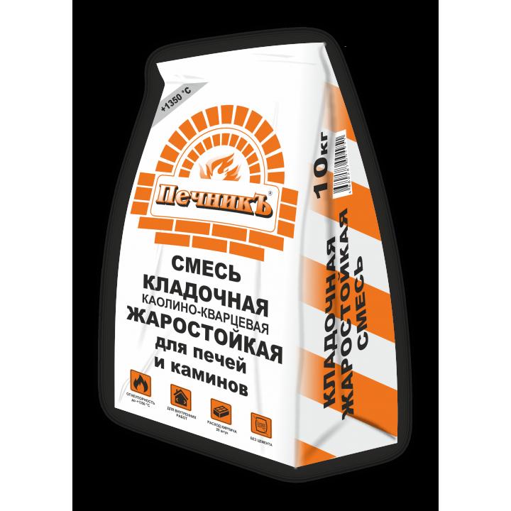 """Смесь кладочная каолино – кварцевая жаростойкая """"Печникъ"""" 10,0 кг (SUH10)"""